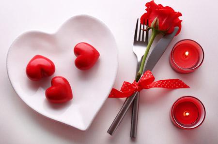 پس زمینه رمانتیک عاشقانه love dinner rose