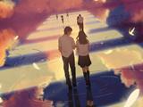 عکس کارتونی فانتزی عاشقانه دختر و پسر