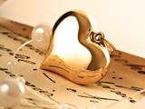 پلاک طلای مدل قلب زیبا