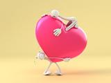 عکس جالب قلب صورتی کارتونی