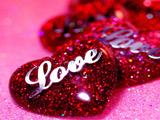 عکس قلبهای قرمز درخشان زیبا