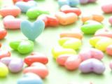 عکس قلب های رنگارنگ کوچک