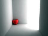 قلب قرمز تنها