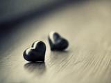 عکس عاشقانه دو قلب سیاه