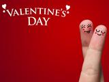 کارت پستال قرمز انگشتهای ولنتاین