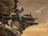 عکس سرباز در حال شلیک تفنگ