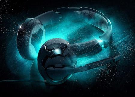 پس زمینه گرافیکی هدفون موسیقی music headphone art