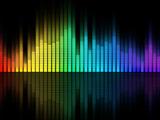 اکولایزر موسیقی رنگارنگ