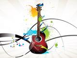 والپیپر انتزاعی گیتار