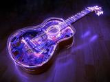 پوستر گیتار نورانی زیبا