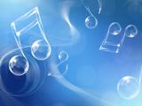 پوستر آبی نوت های موسیقی
