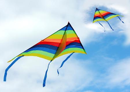 عکس بادبادک در آسمان kite in sky