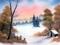 نقاشی های باب روس - کلبه