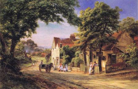 نقاشی زیبای دهکده beautiful village painting