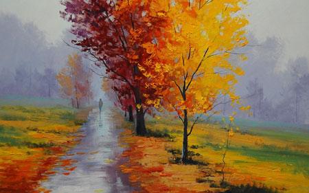 نقاشی فصل پاییز امپریالیسم autumn paintin amperialism