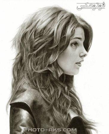 نقاشی بسیار زیبا دختر narghes mohammadi