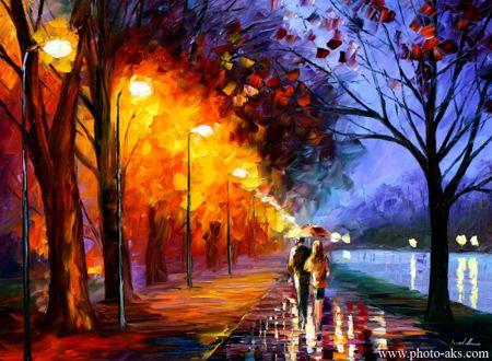 نقاشی عاشقانه و رومانتیک romantical love painting photo