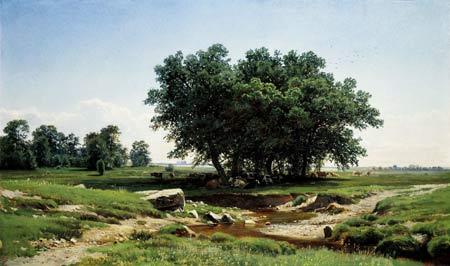 نقاشی زیبای طبیعت درخت trees nature art painting