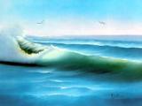 نقاشی ساحل دریا