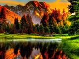 عکس نقاشی منظره بسیار زیبا طبیعت
