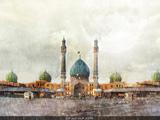 پوستر زیبا از مسجد جمکران