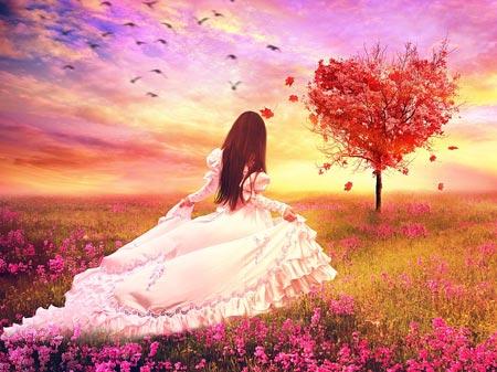 عکس رویایی دختر در طبیعت girl love autumn