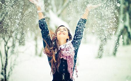 عکس دختر زیبا در زمستان winter love girl