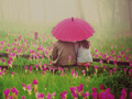 عکس رمانتیک دختر پسر در گلها