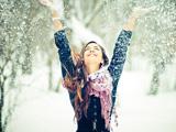 عکس دختر زیبا در زمستان