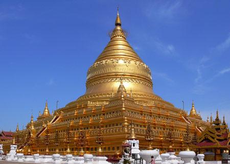 عکس معبد طلایی شوداگون mabad shodaghon bodaei