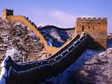 عکس دیوار بزرگ چین در زمستان