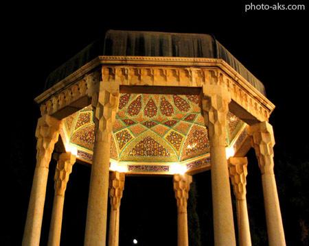 عکس حافظیه در شب tomb of hafez in night