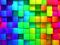 مکعب های سه بعدی رنگارنگ