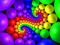 والپیپر مارپیچی رنگارنگ