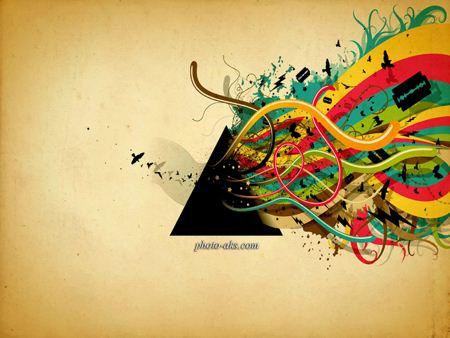 پس زمینه موزیکال و زیبا musical wallpaper