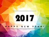 والپیپر انتزاعی زیبا تبریک سال 2017