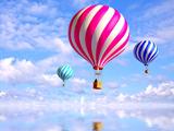 پوستر بالن ها در آسمان