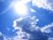 خورشید و ابر در آسمان