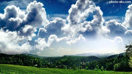 منظره آسمان ابری manzare asman abri