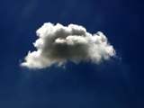 عکس تیکه ابر در آسمان آبی