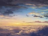 منظره آسمان و ابر زیبا