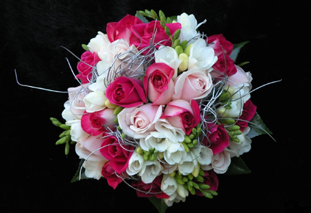 دسته گل رز عروسی و نامزدی roses flowers bouquet