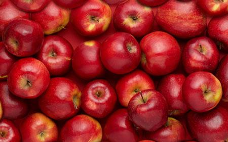 والپیپر سیب های سرخ در جعبه red apple fruit wallpaper