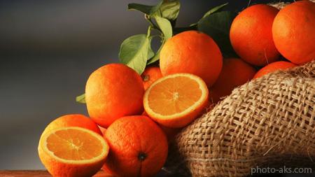 والپیپر میوه پرتغال fruit orangees