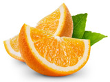 عکس میوه پرتغال قاچ شده
