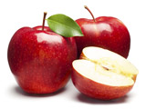 عکس میوه سیب قرمز