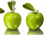 عکس سیب سبز خیس باطروات