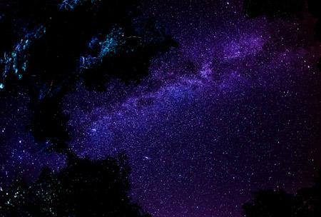 عکس راه شیری در آسمان شب milky way stars night