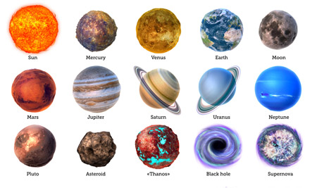 تصویر سیارات منظومه شمسی planets pictures