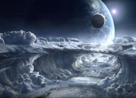 عکس رویایی از ابرهای فضایی space clouds stream